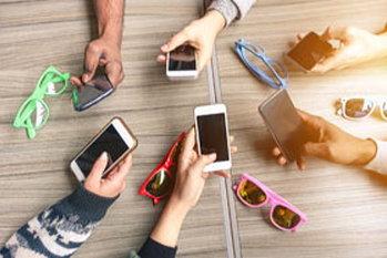 中高生が利用しているスマートフォンの割合