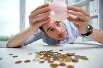 金欠,借金,浪費,貯蓄