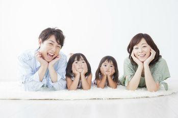 家族,笑顔