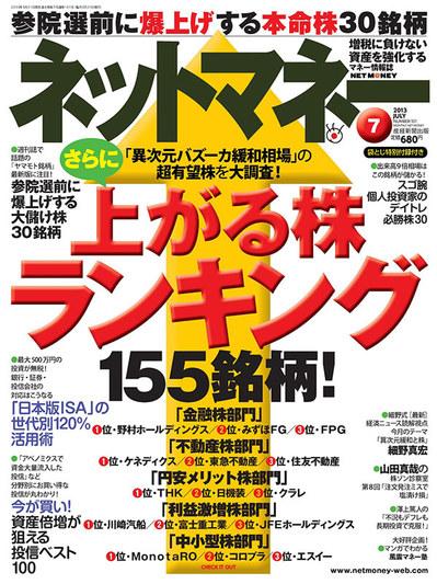 ネットマネー2013年7月号