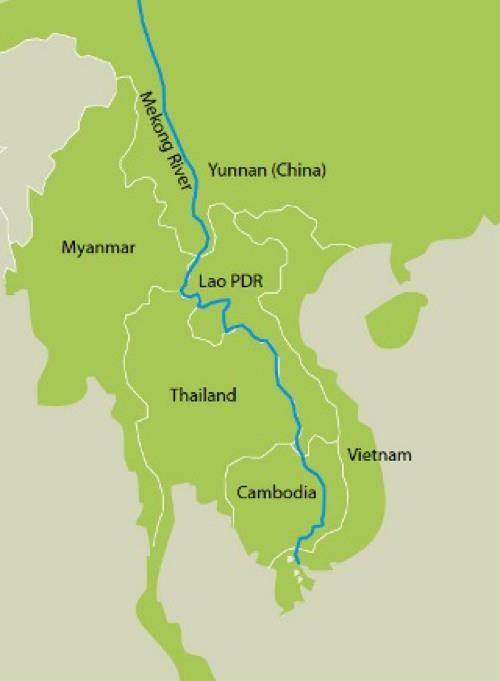 メコン川の全体像と周辺諸国