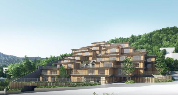 隈研吾氏がデザインした高級マンション「プロスタイル札幌 宮の森」