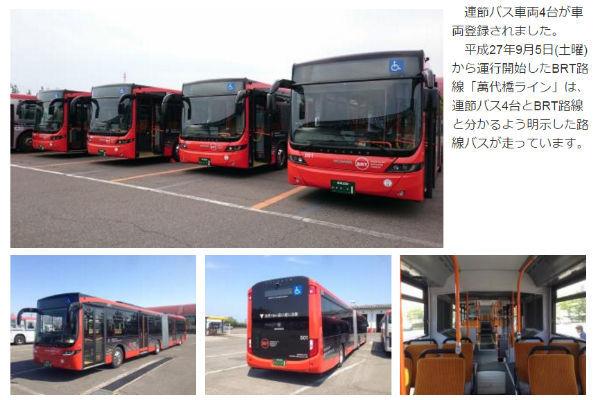連節バスで専用レーン走るバス高速輸送システムBRT 岐阜や新潟 ...