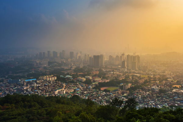 韓国,PM2.5,大気汚染