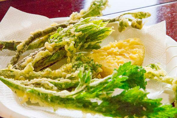 ワラビ,山菜,天ぷら