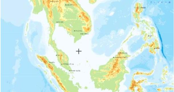 図表 シンガポール周辺の世界地図