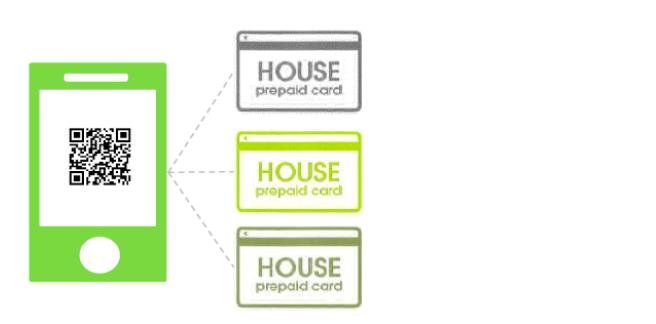 ハウスカードのデジタル化と紐づけ