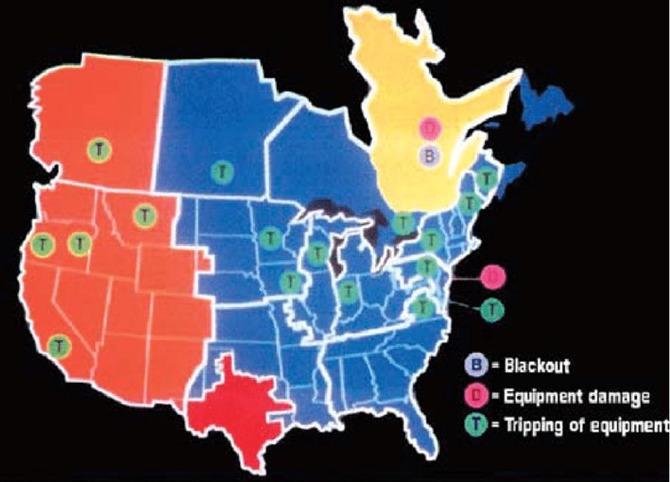 1989年3月に生じた磁気嵐が米国へもたらした損害